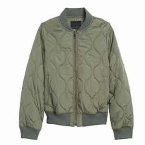 Banana Republic Quilted Water Resist Bomber Jacket